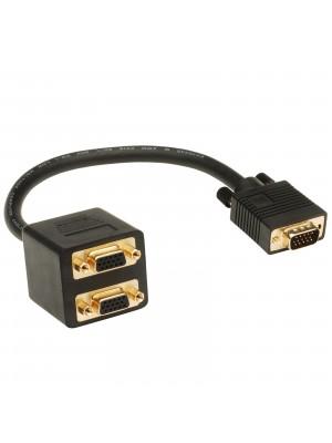 מפצל VGA ל 2 מסכים