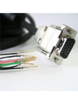 כבל VGA איכותי עם ראש פריק להשחלה באורך 5 מטר ללא הלחמה