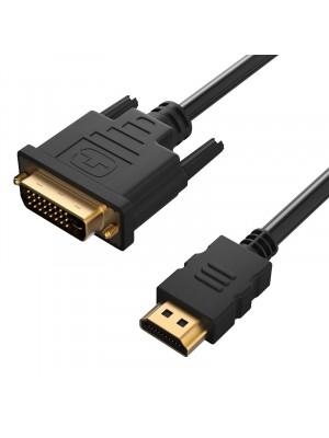 כבל HDMI - DVI מקצועי תוצרת באורך 5 מטרים