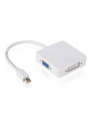 מתאם Mini Displayport ל HDMI + DVI + VGA